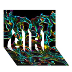 Soul Colour Girl 3d Greeting Card (7x5)  by InsanityExpressedSuperStore