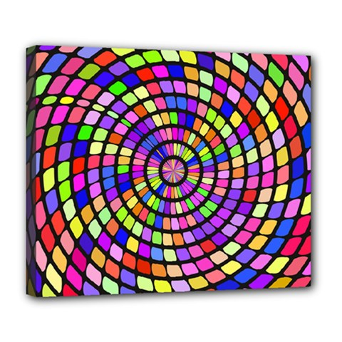 Colorful Whirlpool Deluxe Canvas 24  X 20  (stretched) by LalyLauraFLM