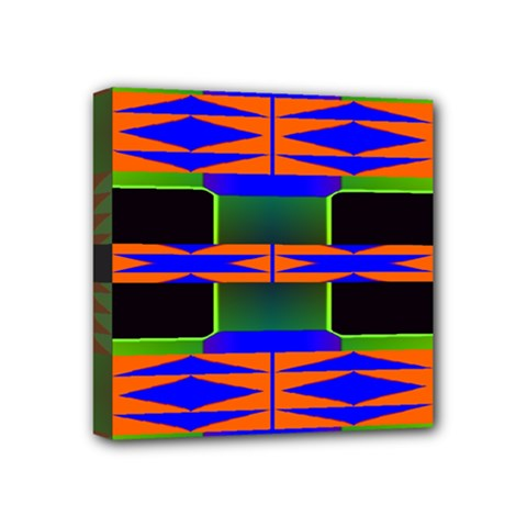 Distorted Shapes Pattern Mini Canvas 4  X 4  (stretched) by LalyLauraFLM