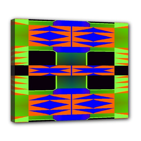 Distorted Shapes Pattern Deluxe Canvas 24  X 20  (stretched) by LalyLauraFLM