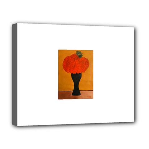 Flower Painting Deluxe Canvas 20  X 16   by JUNEIPER07