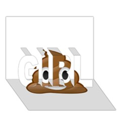 Poop Girl 3d Greeting Card (7x5)  by redcow