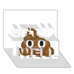 Poop Get Well 3d Greeting Card (7x5)  by redcow