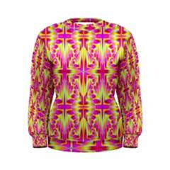 Pink and Yellow Rave Pattern Women s Sweatshirt