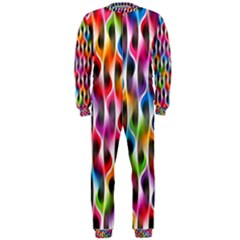 Rainbow Psychedelic Waves OnePiece Jumpsuit (Men) by KirstenStarFashion
