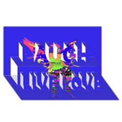 Fairy Punk Laugh Live Love 3d Greeting Card (8x4)  by icarusismartdesigns