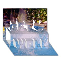 Splash 3 Get Well 3d Greeting Card (7x5)  by icarusismartdesigns