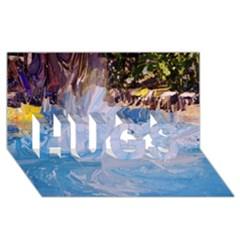 Splash 4 Hugs 3d Greeting Card (8x4)  by icarusismartdesigns