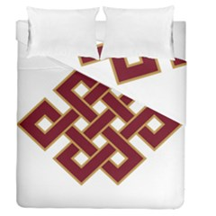 Buddhist Endless Knot Auspicious Symbol Duvet Cover (full/queen Size) by CrypticFragmentsColors