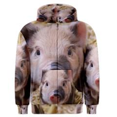 Sweet Piglet Men s Zipper Hoodies by ImpressiveMoments