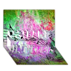 Abstract Music  You Are Invited 3d Greeting Card (7x5)  by ImpressiveMoments