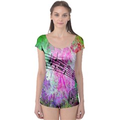 Abstract Music  Short Sleeve Leotard by ImpressiveMoments