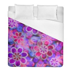 Pretty Floral Painting Duvet Cover Single Side (Twin Size) by KirstenStar