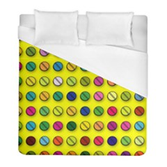 Multi Col Pills Pattern Duvet Cover Single Side (twin Size) by ScienceGeek