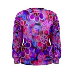 Pretty Floral Painting Women s Sweatshirts
