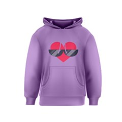 SUNGLASSES HEART Kid s Pullover Hoodies by ULTRACRYSTAL