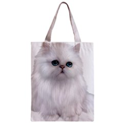 White Persian Cat Clipart Classic Tote Bags