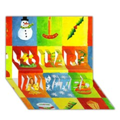 Christmas Things YOU ARE INVITED 3D Greeting Card (7x5)  by julienicholls