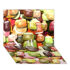 Stones 001 Clover 3d Greeting Card (7x5)