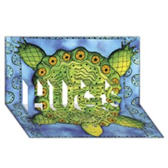 Turtle HUGS 3D Greeting Card (8x4)  by julienicholls