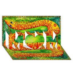 Patterned Snake Mom 3d Greeting Card (8x4)  by julienicholls