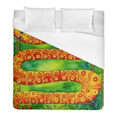 Patterned Snake Duvet Cover Single Side (twin Size) by julienicholls
