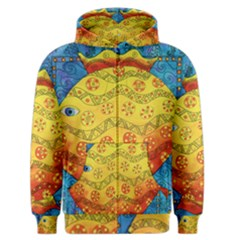 Patterned Fish Men s Zipper Hoodies by julienicholls