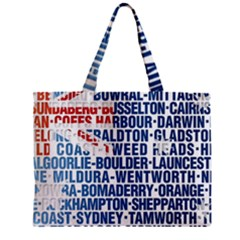 Australia Place Names Flag Zipper Tiny Tote Bags by theimagezone
