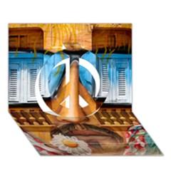 Graffiti Sunglass Art Peace Sign 3d Greeting Card (7x5)  by TheWowFactor