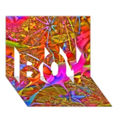 Biology 101 Abstract Boy 3d Greeting Card (7x5) by TheWowFactor