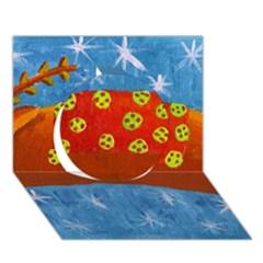Rudolph The Reindeer Circle 3D Greeting Card (7x5)