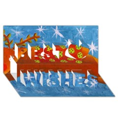Rudolph The Reindeer Best Wish 3d Greeting Card (8x4)  by julienicholls