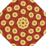 Umbrella Sunflowers red3 - Folding Umbrella