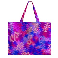 Pink And Purple Marble Waves Zipper Tiny Tote Bags by KirstenStar
