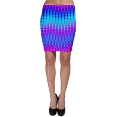 Melting Blues And Pinks Bodycon Skirts