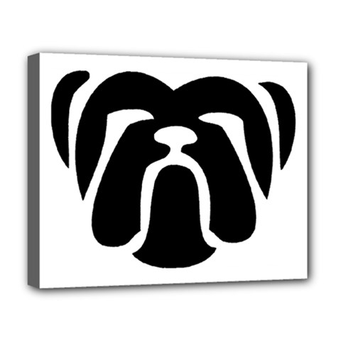 Bulldog Tribal Deluxe Canvas 20  x 16   by TailWags