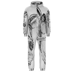 Angel Drawing Hooded Jumpsuit (Men)  by TailWags