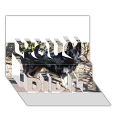 Black German Shepherd Full You Did It 3D Greeting Card (7x5) by TailWags