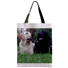 2 Labs Zipper Classic Tote Bags by TailWags