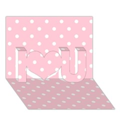 Pink Polka Dots I Love You 3d Greeting Card (7x5)  by LokisStuffnMore