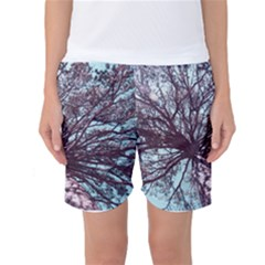 Under Tree Paint Women s Basketball Shorts by infloence