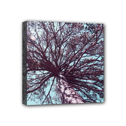Under Tree Paint Mini Canvas 4  x 4  by infloence