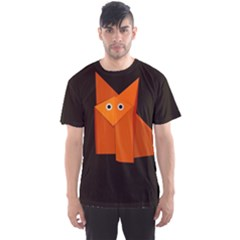 Dark Cute Origami Fox Men s Sport Mesh Tees by CreaturesStore
