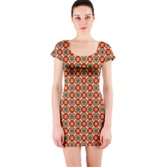 Cute Pretty Elegant Pattern Short Sleeve Bodycon Dresses by creativemom