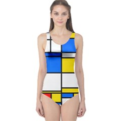 Colorful rectangles Women s One Piece Swimsuit by LalyLauraFLM