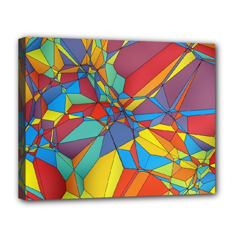 Colorful Miscellaneous Shapes Canvas 14  X 11  (stretched) by LalyLauraFLM