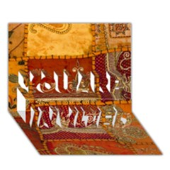 India Print Realism Fabric Art You Are Invited 3d Greeting Card (7x5)  by TheWowFactor