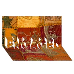 India Print Realism Fabric Art Engaged 3d Greeting Card (8x4)  by TheWowFactor