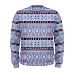 Fancy Tribal Border Pattern Blue Men s Sweatshirts