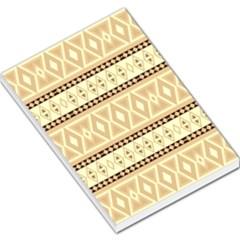 Fancy Tribal Border Pattern Beige Large Memo Pads